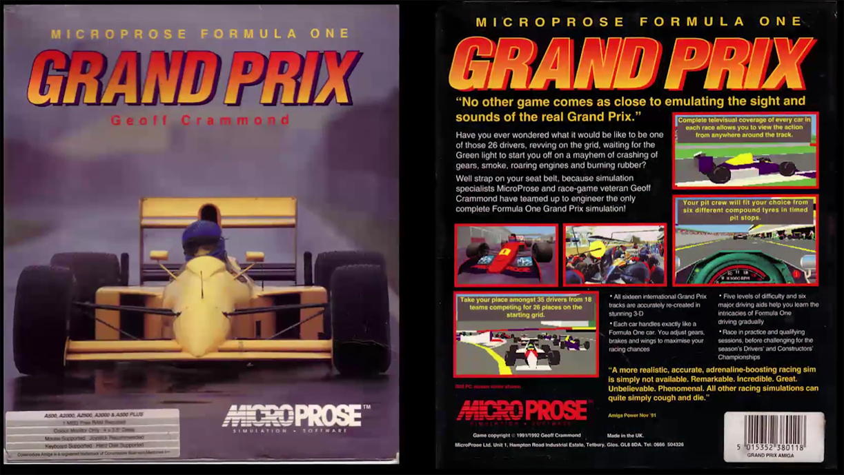Formula One Grand Prix F1gp Amiga Review How To Retro Starting Lights It Even Included Track Guides For All 16 Tracks And Insights In Teams Drivers 1 As A Whole Its Of The Things That Gamers From