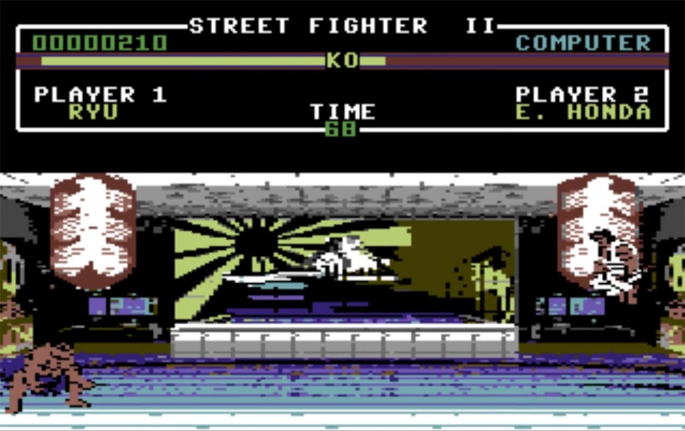 C64 Version of Street Fighter 2