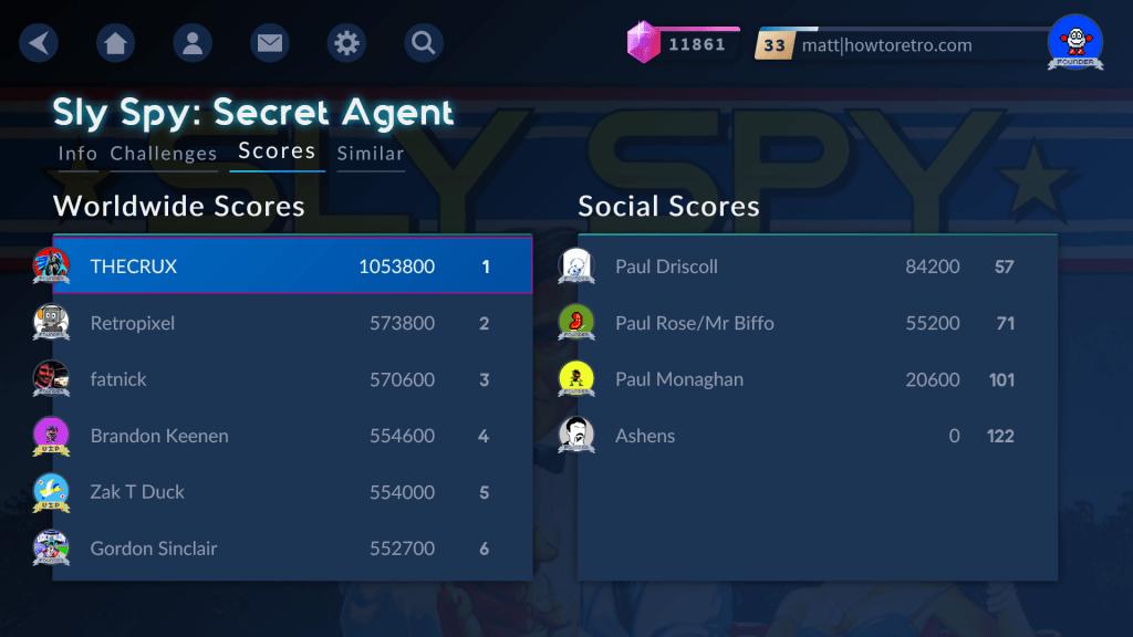 Antstream Arcade High Scores