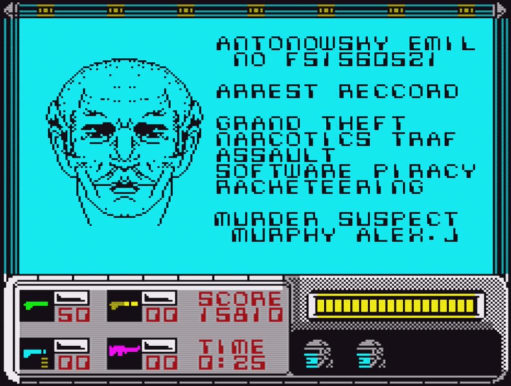 RoboCop ZX Spectrum Face ID