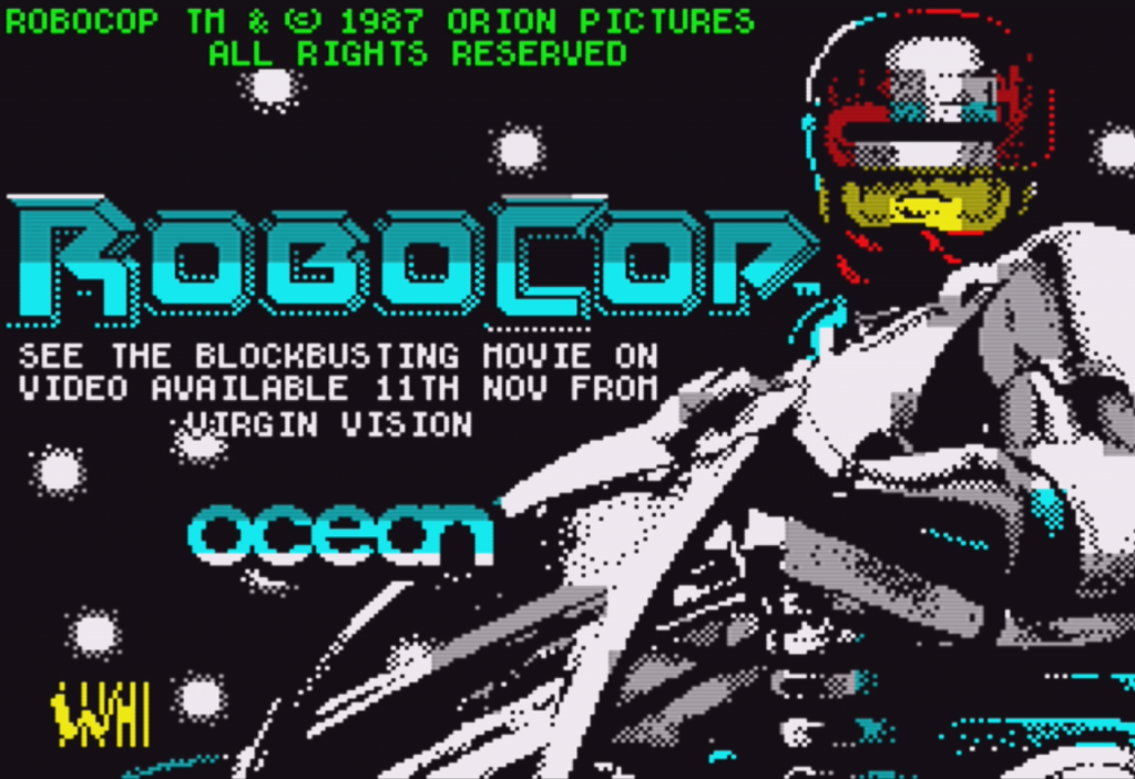 RoboCop ZX Spectrum Loading Screen