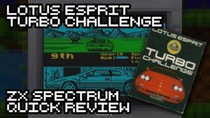 Lotus Esprit Turbo Challenge ZX Spectrum Review