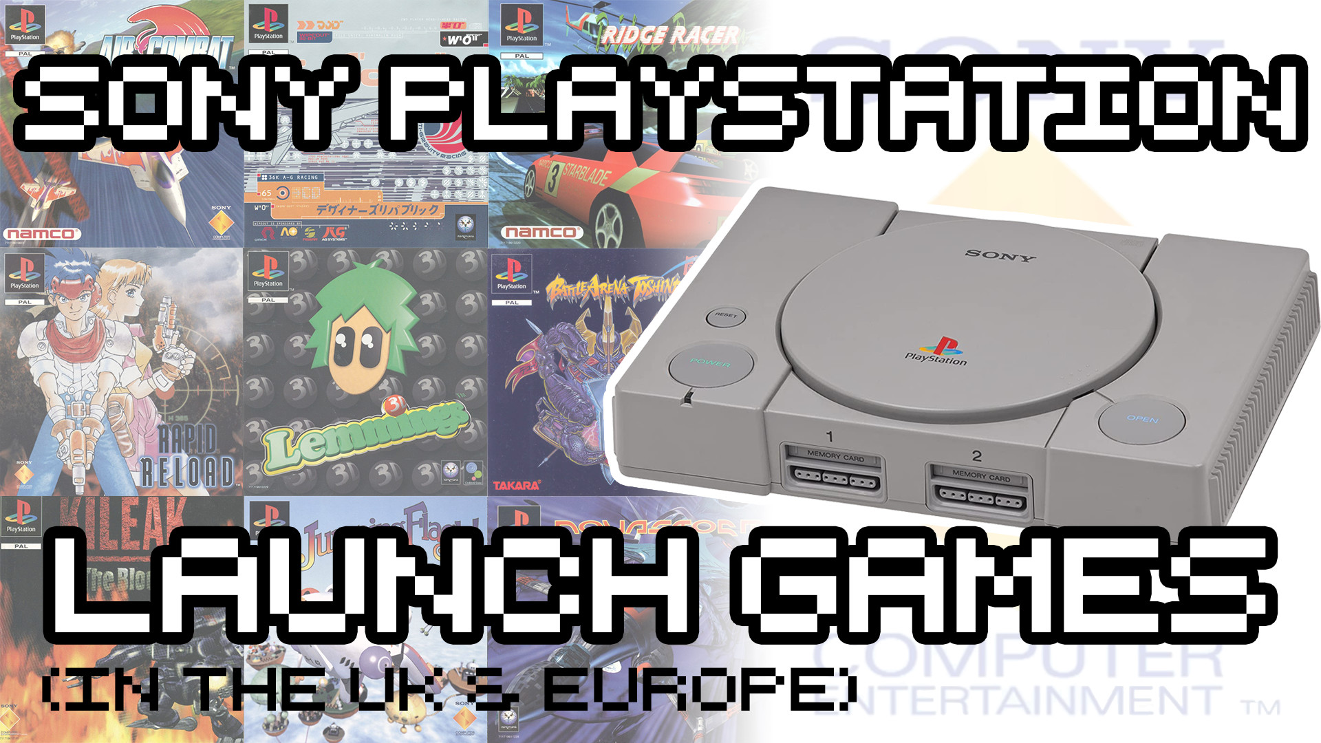 PlayStation Launch Games in the UK & Europe