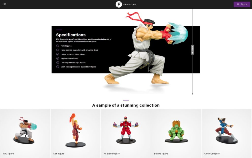 The Fanhome Street Fighter Figure Collection